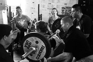 People learning the core fundamentals of the lifts