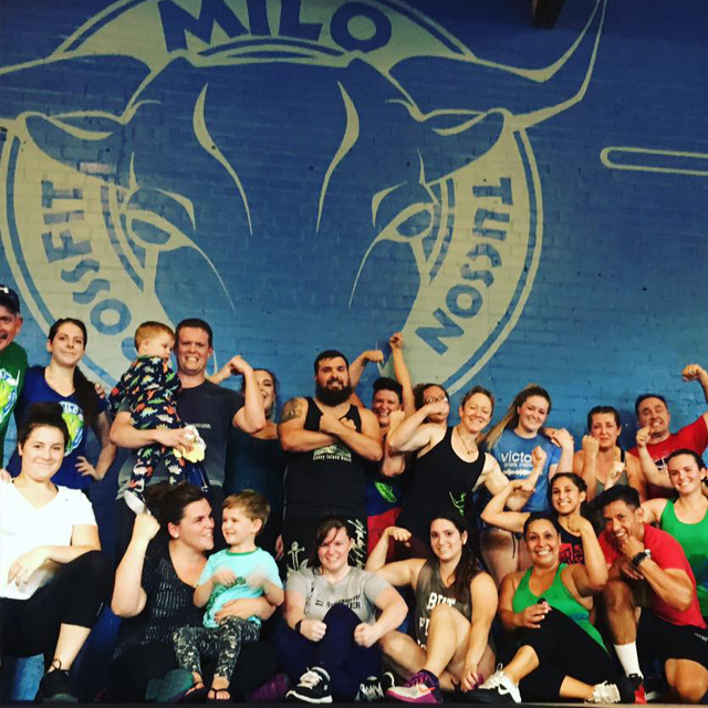 CrossFit Milo Partner WOD in the Tucson gym on Sundays